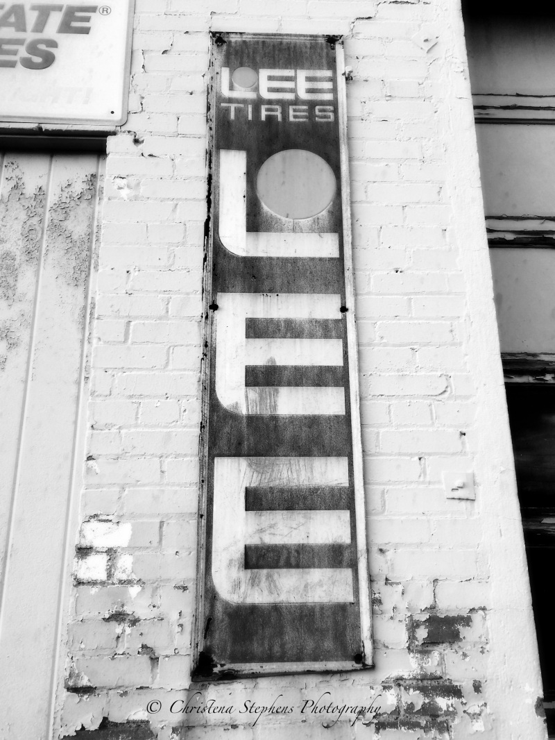 Lee Tire Sign - Unanswered Justice - Christena Stephens Photography