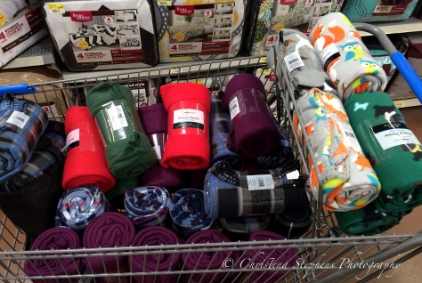 Wal-Mart Fleece Throws for Meals on Wheels Lubbock