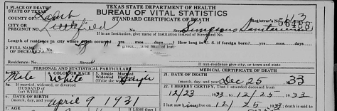 Accessing texas death certificates that are public record death certificate example yadclub Images