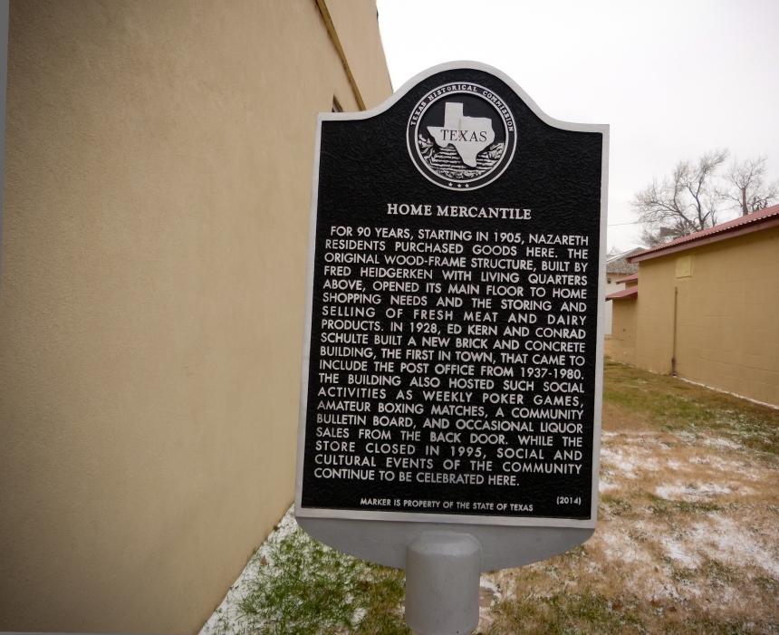 Home Mercantile Historical Marker