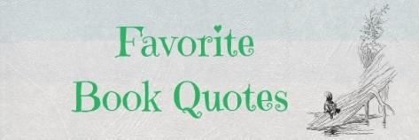 Favorite Book Quote