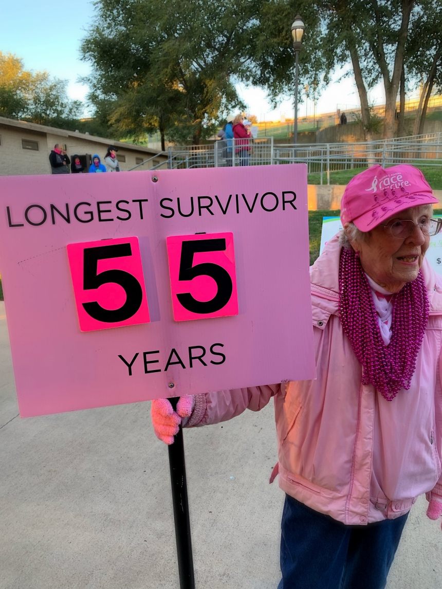 Woman, Sign, Breast Cancer