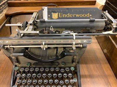 Always will find an old typewriter.